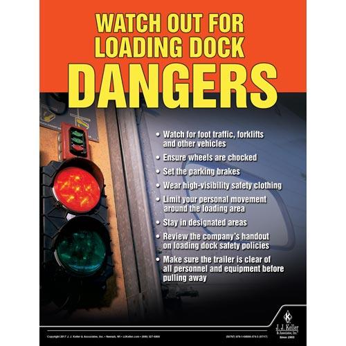 Loading Dock Dangers - Transport Safety Risk Poster (012343)