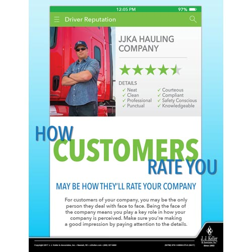 How Customers Rate You - Transport Safety Risk Poster (012344)