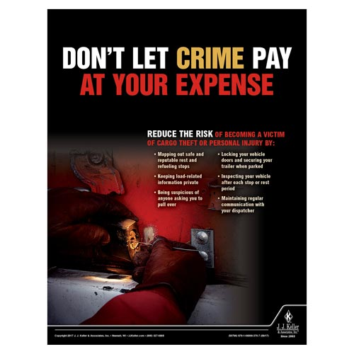Cargo Theft - Transport Safety Risk Poster (012345)