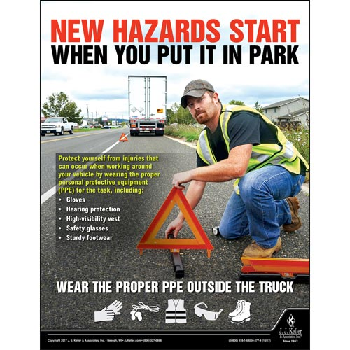 New Hazards Start When You Put It In Park - Transport Safety Risk Poster (012346)