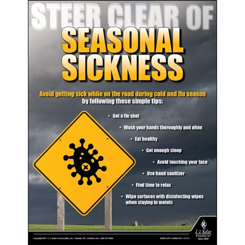 Steer Clear Of Seasonal Sickness - Transport Safety Risk Poster (012347)