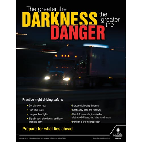 Darkness and Danger - Transportation Safety Poster (012352)