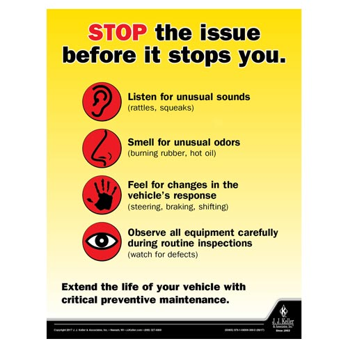 Stop the Issues - Transportation Safety Poster (012354)