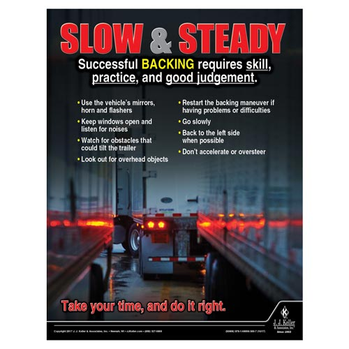 Slow & Steady - Transportation Safety Poster (012355)