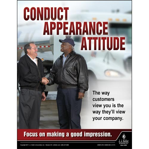 Conduct - Appearance - Attitude - Transportation Safety Poster (012356)