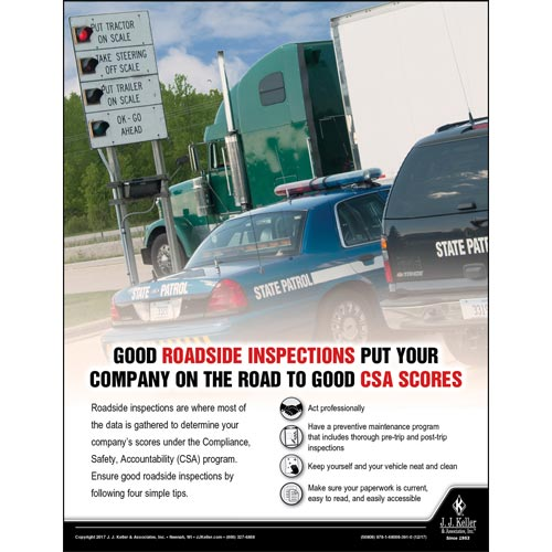 Good Roadside Inspections - Transportation Safety Poster (012357)