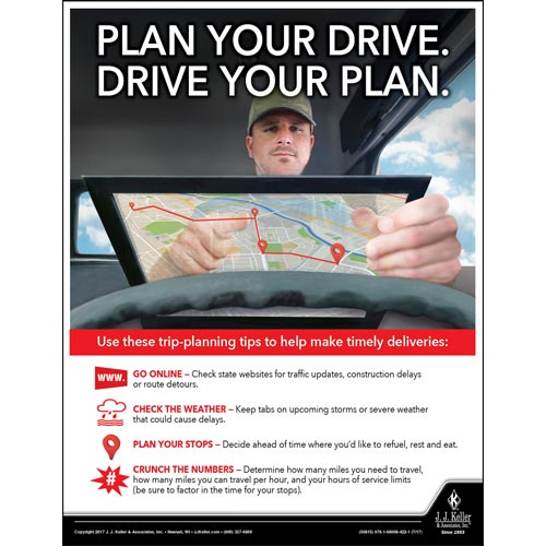 Plan Your Drive -  Motor Carrier Safety Poster (012326)