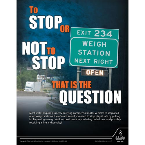 Stop or Not To Stop - Motor Carrier Safety Poster (012330)