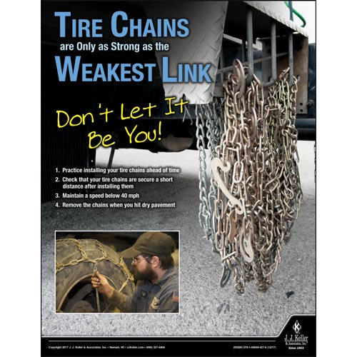 Tire Chains - Motor Carrier Safety Poster (012331)