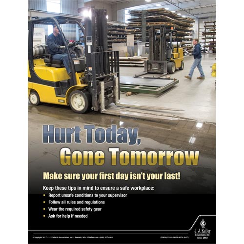Hurt Today - Workplace Safety Advisor Poster (012247)