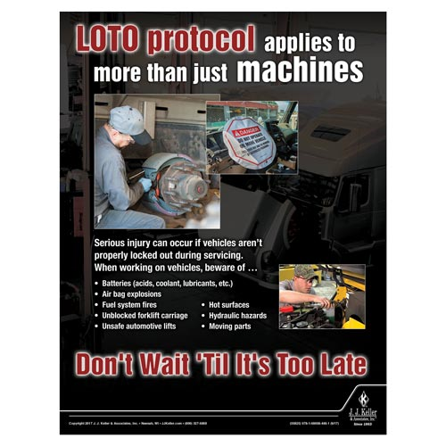 LOTO - Workplace Safety Advisor Poster (012248)