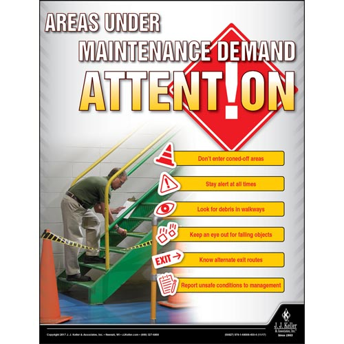 Areas Under Construction - Workplace Safety Advisor Poster (012250)