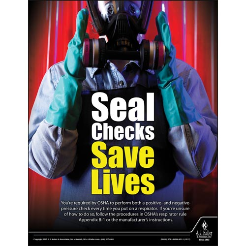 Seal Checks Save Lives - Workplace Safety Advisor Poster (012251)
