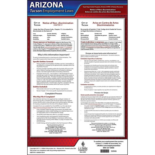 Arizona / Tucson Non-Discrimination Poster (012492)