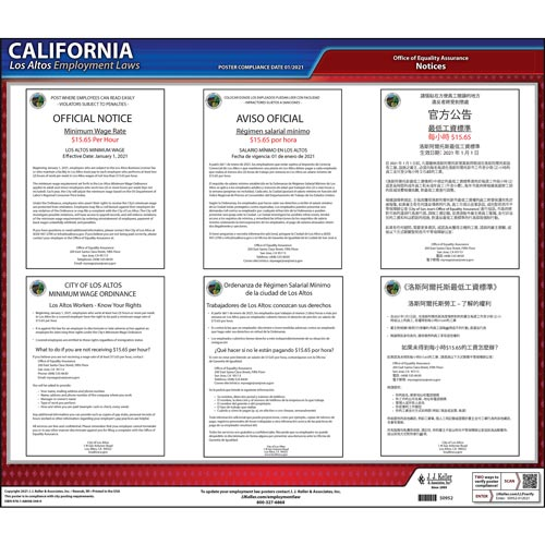 California / Los Altos Municipal Code Poster (012503)