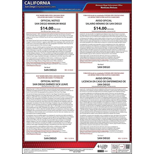 California / San Diego Municipal Code Poster (012511)
