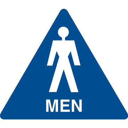 California Title 24 Restroom Sign: Men (012905)