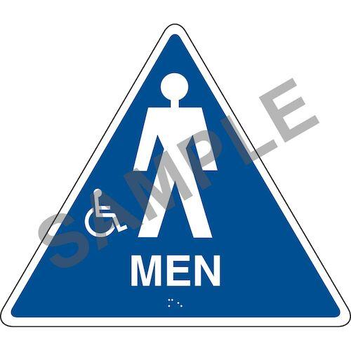 California Title 24 Handicap-Accessible Restroom Sign: Men (012906)