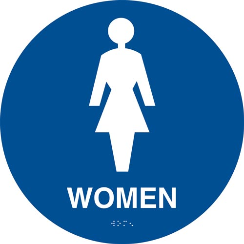 California Title 24 Restroom Sign: Women (012907)