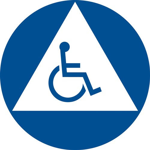 California Title 24 Gender-Neutral Handicap-Accessible Restroom Sign (012912)
