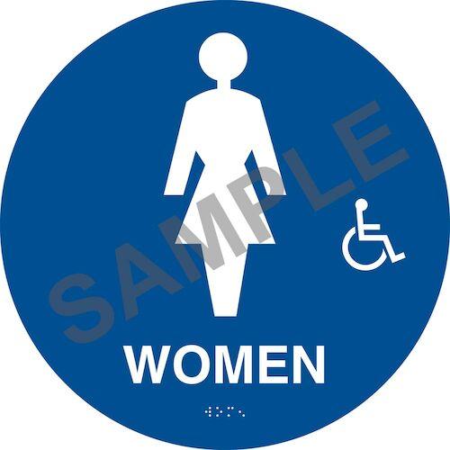 California Title 24 Handicap-Accessible Restroom Sign: Women (012908)