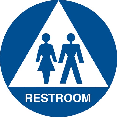California Title 24 Gender-Neutral Restroom Sign: Restroom (012909)