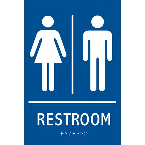 Ada Braille Tactile Gender Neutral Restroom Sign Restroom