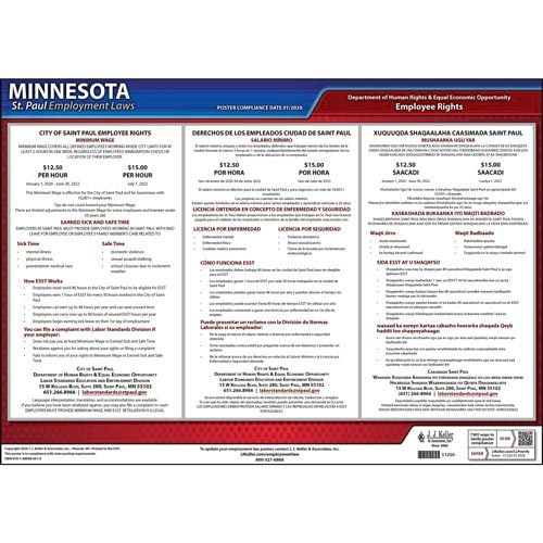 Minnesota / St. Paul Paid Sick Leave Poster (012923)