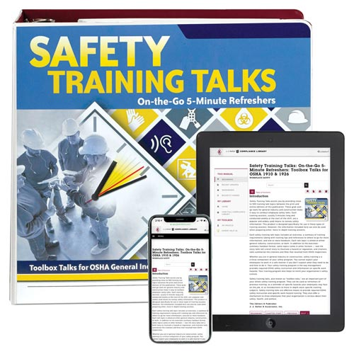 Safety Training Talks: On-the-Go 5-Minute Refreshers Manual (013175)