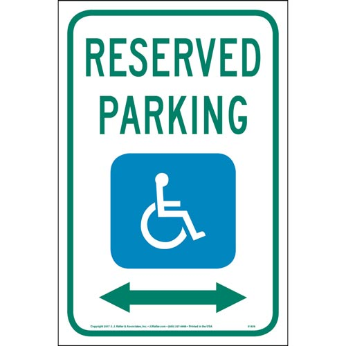 Handicapped Reserved Parking - Traffic Sign (013051)