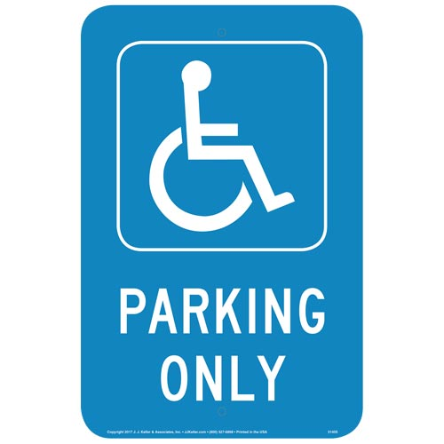 Handicap Parking Only Sign (013050)