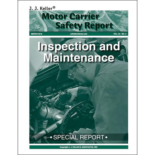 Special Report: Inspection and Maintenance (010326)