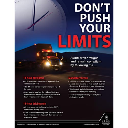 Don't Push Your Limits - Driver Awareness Safety Poster (013932)