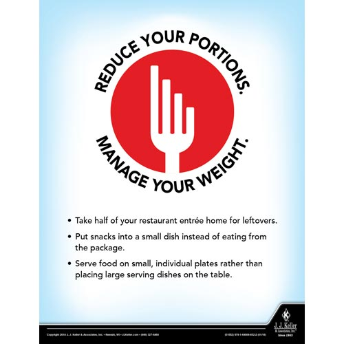 Reduce Your Portion - Health & Wellness Awareness Poster (013066)