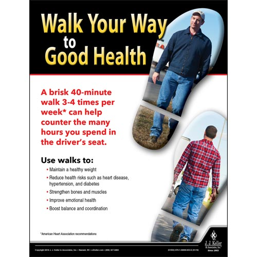 Walk Your Way to Good Health - Transport Safety Risk Poster (013067)