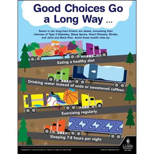 Good Choices Go A Long Way - Transportation Safety Poster (013068)