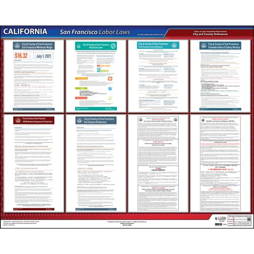 California / San Francisco Administrative Code Poster (04925)