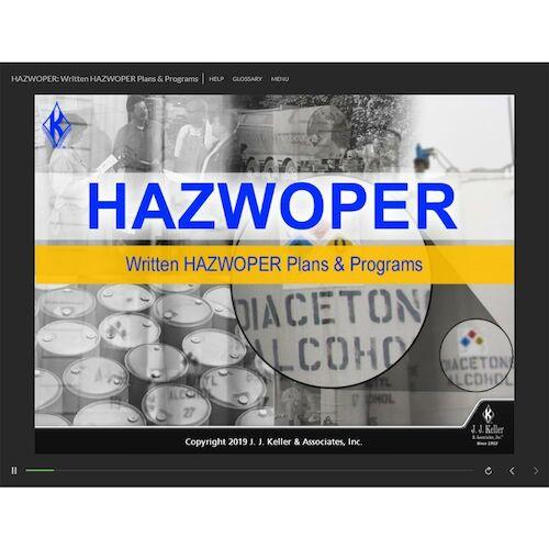 HAZWOPER: Written HAZWOPER Plans & Programs - Online Training Course (014387)