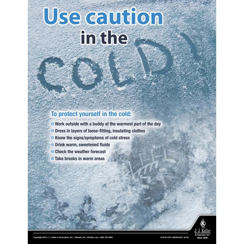 Use Caution In The Snow - Workplace Safety Advisor Poster (013935)