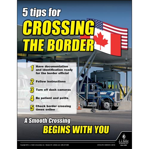 Crossing The Border - Motor Carrier Safety Poster (013937)