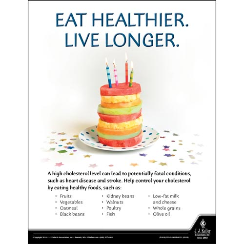 Eat Healthier - Health & Wellness Awareness Poster (013938)