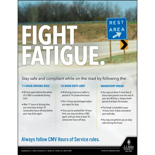 Fight Fatigue - Transportation Safety Poster (013940)