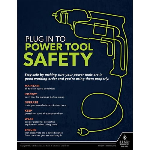 Plug In To Power Tool Safety - Construction Safety Poster (013092)