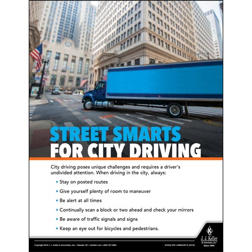 Street Smarts For City Driving - Driver Awareness Safety Poster (013093)