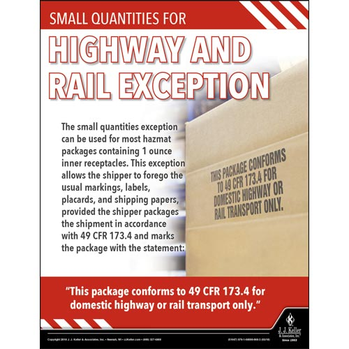 Highway and Rail Exception - Hazmat Transportation Poster (013095)