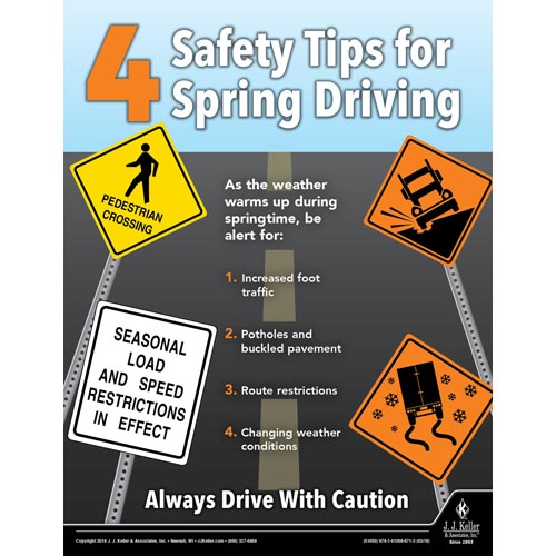 Driving Safety Tips >> Safety Tips For Spring Driving Motor Carrier Safety Poster