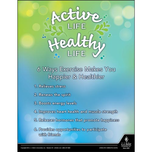 Active Life Healthy Live -  Health & Wellness Awareness Poster (013099)