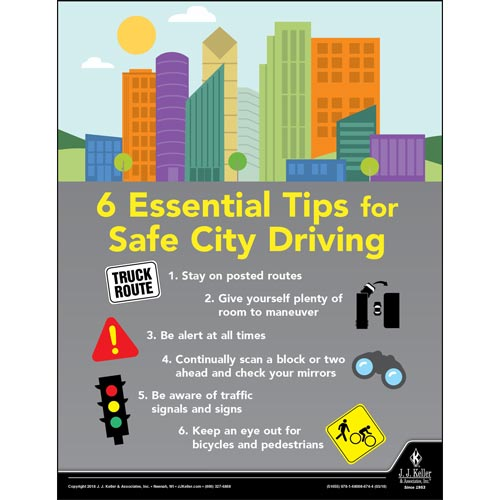 Safe City Driving - Transportation Safety Poster (013101)
