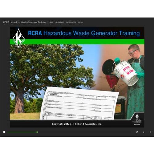 RCRA Hazardous Waste Generator Training - Online Course (013145)