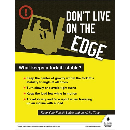 What Keeps A Forklift Stable - Workplace Safety Training Poster (013129)